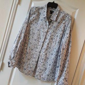 SALE J. Crew Floral Cotton Button Down Shirt L